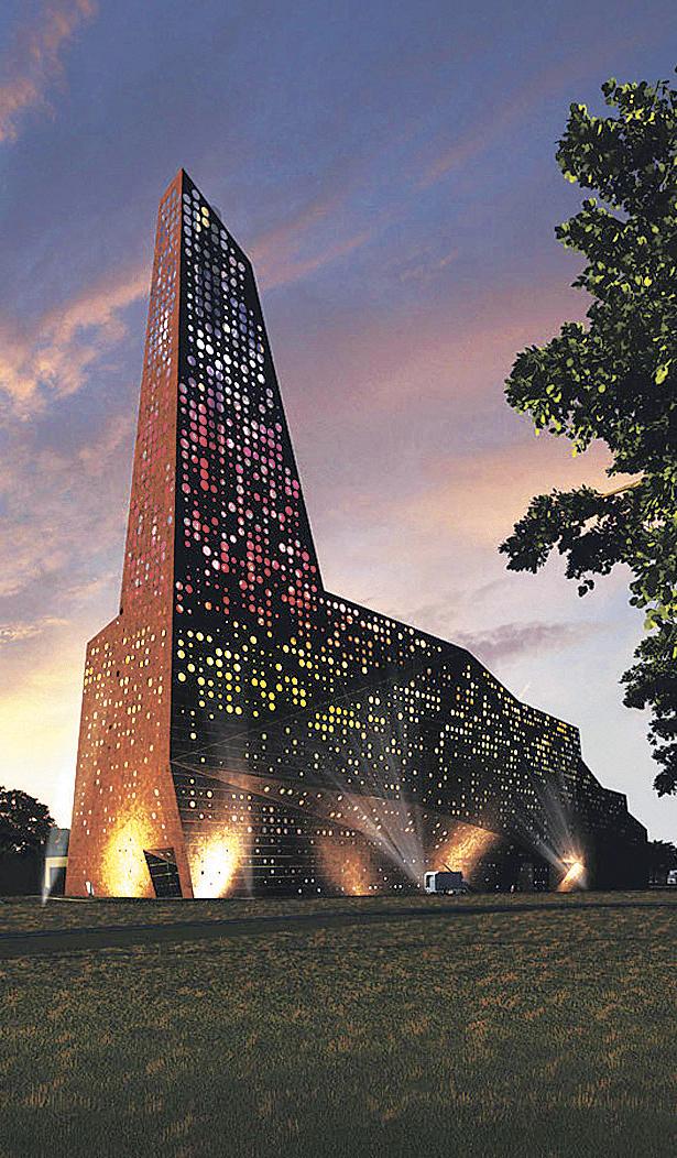 Мусоросжигательный завод и горнолыжный склон в Дании, спроектированный архитектором Эриком Ван Эгераатом